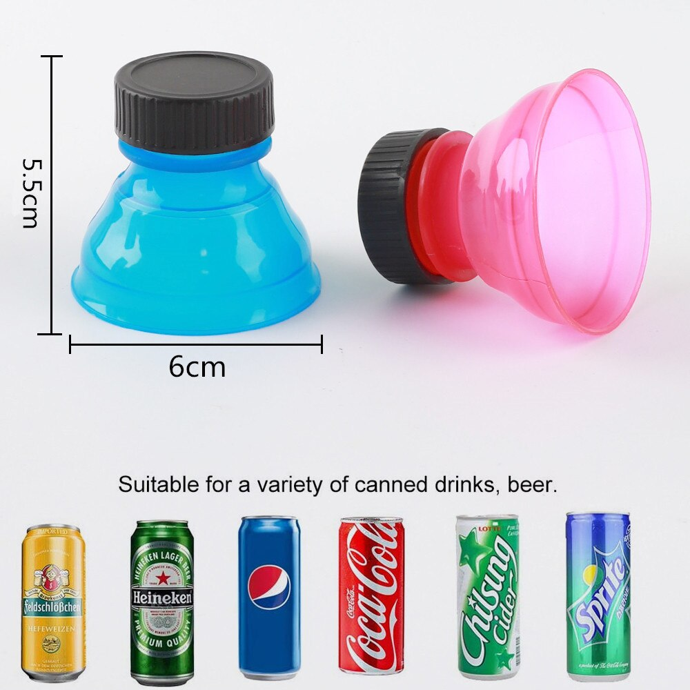 6pcs Reusable Beverage Can Caps Cover Lid Soda Pop Beer Can Cap Flip Bottles Top Lid Container Boxes Jars Protector Snap