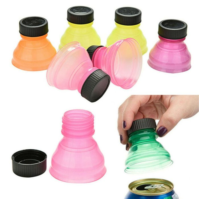 Bottle Cap Soda Can Toppers (6pcs)