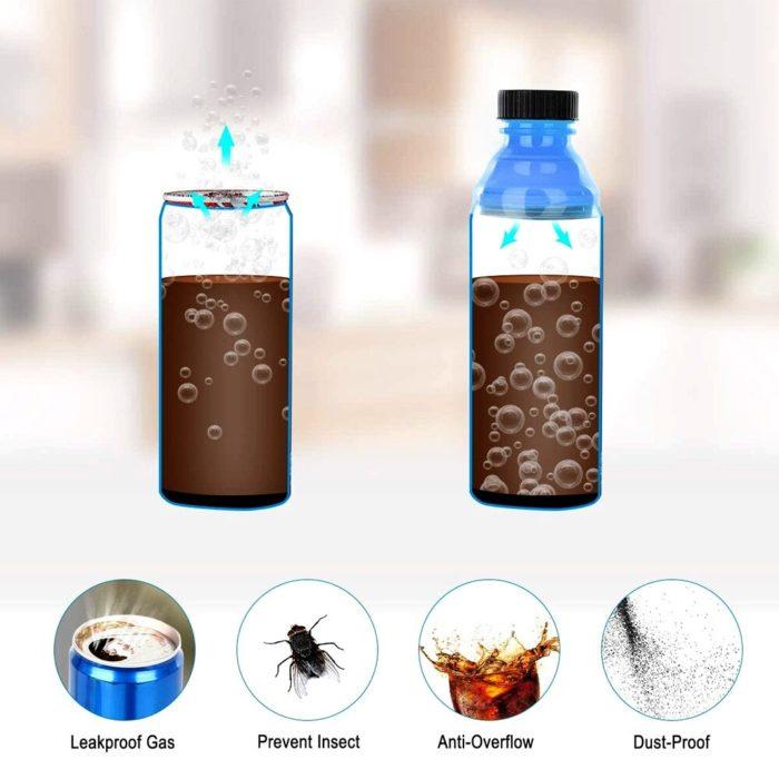 Bottle Cap Soda Can Toppers (6pcs)