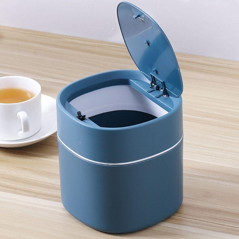 Mini Small Waste Bins Desktop Garbage Basket Home Table Plastic Trash Can Office Supplies Dustbins Sundries Barrel Box