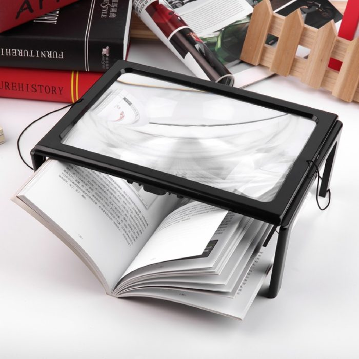 Foldable Hands Free Magnifier with Light
