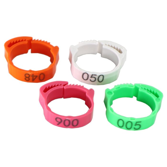 Chicken Leg Bands Adjustable Rings (30Pcs.)
