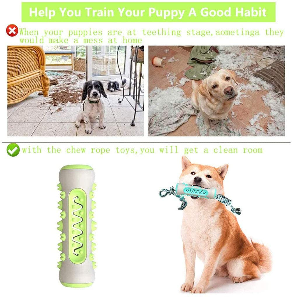 Dog ToothBrush Rubber Chew Toys Molar Tooth Cleaning Brush Stick Dogs Dental Care Toys For Medium Large Giant Dogs