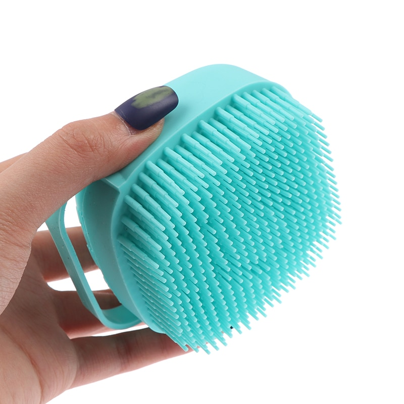 Bath Brush Silicone Scrubber Dispenser Multifunction Bathroom For Babies Body Cleaning Home