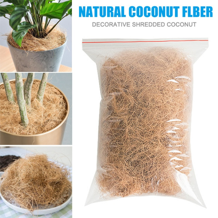 Coconut Husk Fiber Orchids Crafts Pet Bedding Insect-proof Protect Plants Maintain Soil Temperature UD88