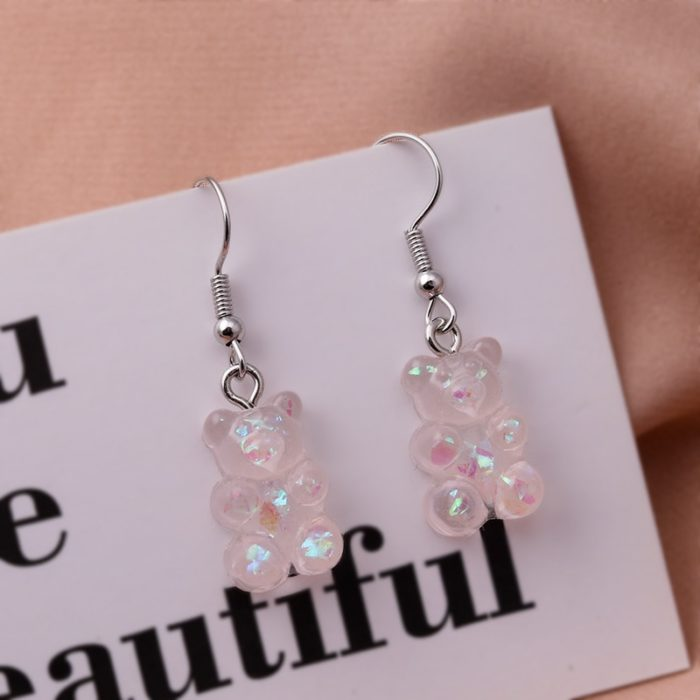Fashionable Gummy Bear Earrings