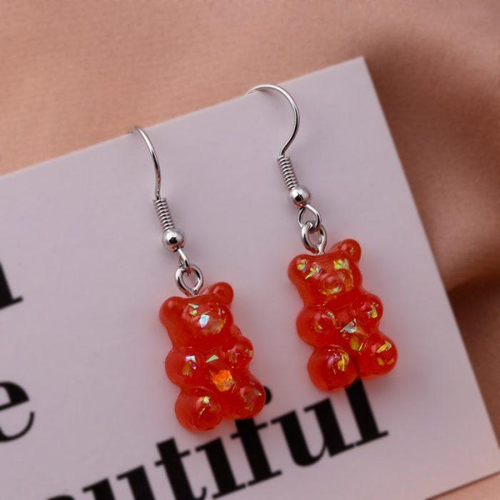 Fashionable Gummy Bear Earrings
