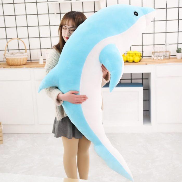 Dolphin Stuffed Animal Soft Pillow