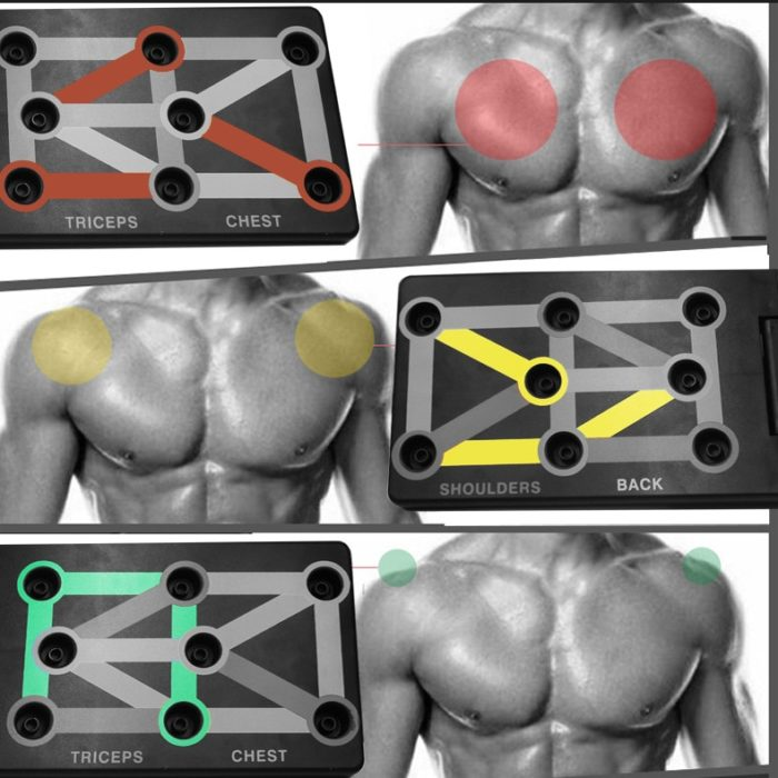 Foldable Push Up Board 9 in 1 Workout Stand