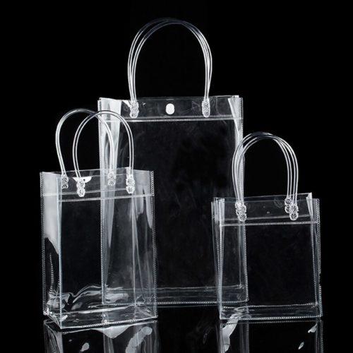 Transparent Tote Bag Storage Carrier
