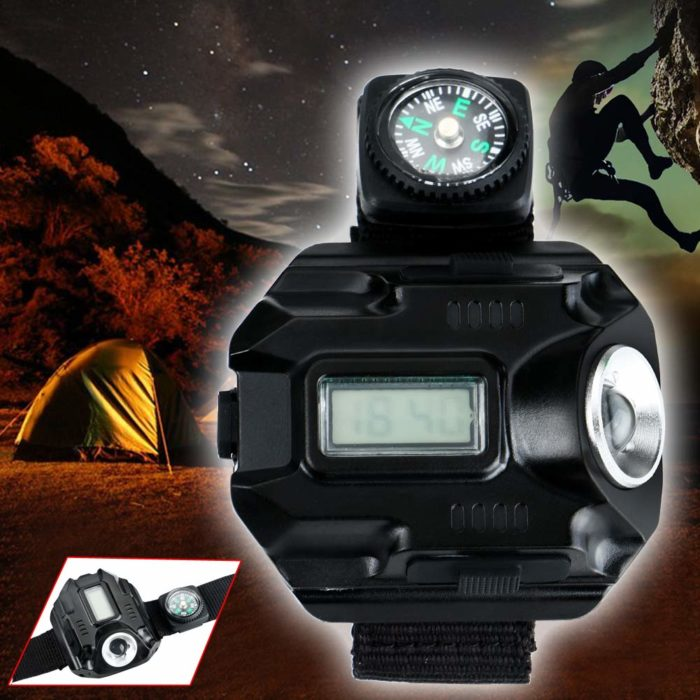 Rechargeable Torch Watch with Compass