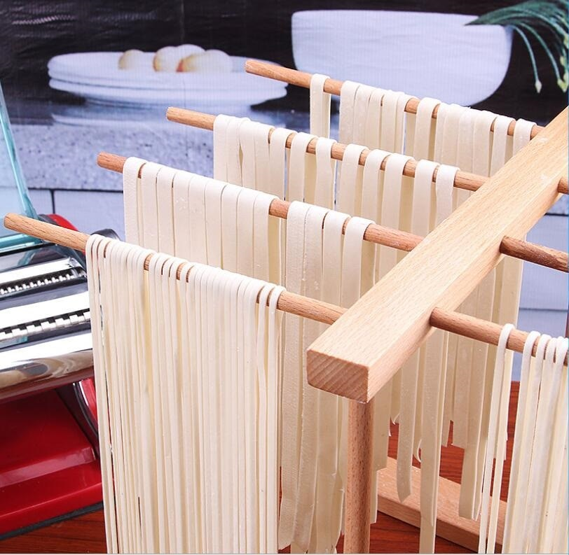 Wooden Noodle Drying Rack Pasta Noodles Drying Rack Wood Kitchen Storage Stand