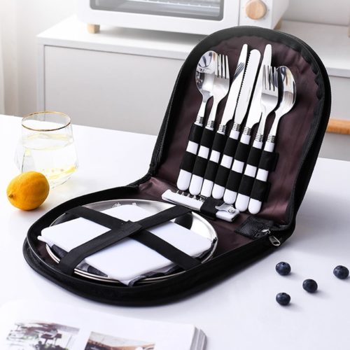 Camping Tableware Set with Bag