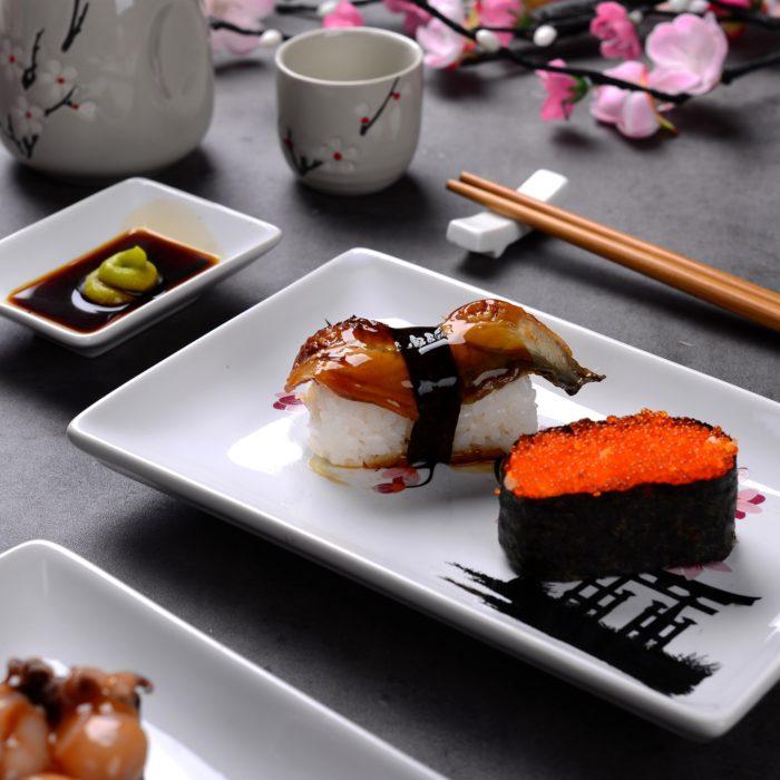 Porcelain Sushi Dish Set (8pcs)