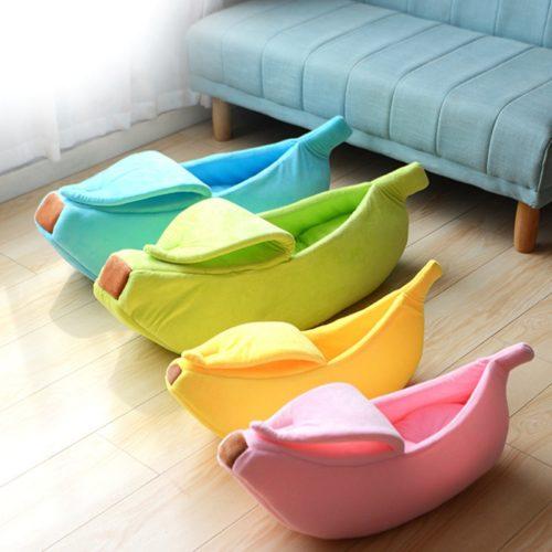 Banana Pet Bed Portable Pet Cushion