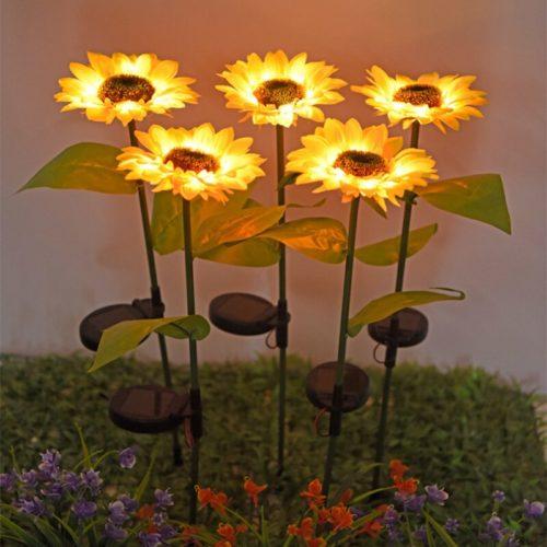 Sunflower Solar Light Garden LED