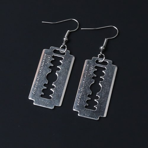 Razor Blade Earrings Gothic Accessory