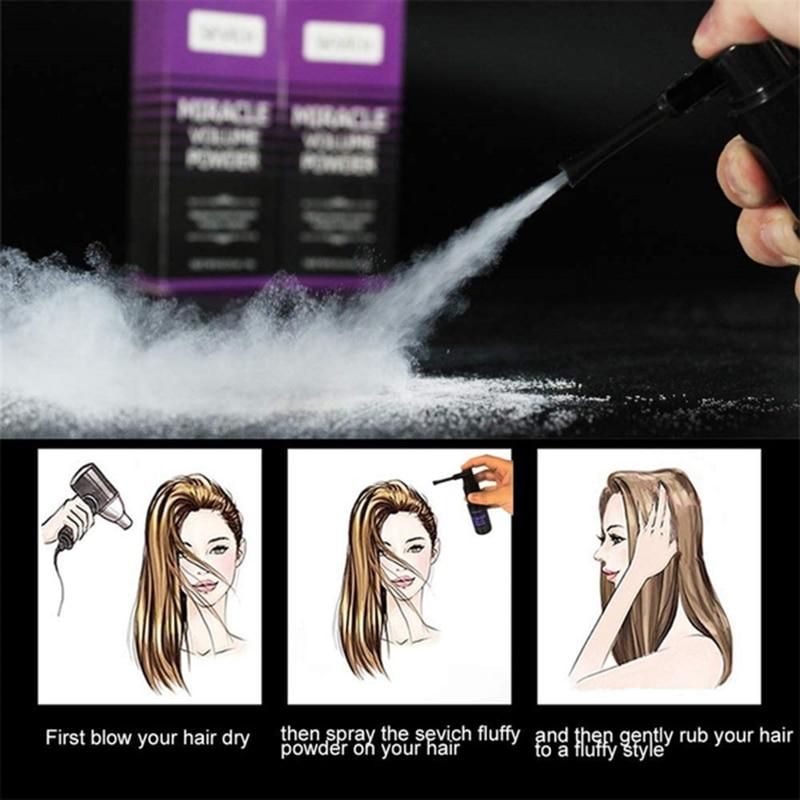 Men Womens Fluffy Hair Powder Volume Up Hair Styling Powder 360° Rotatate Spray Refreshing Remove Oil Modeling Hairdressing Tool