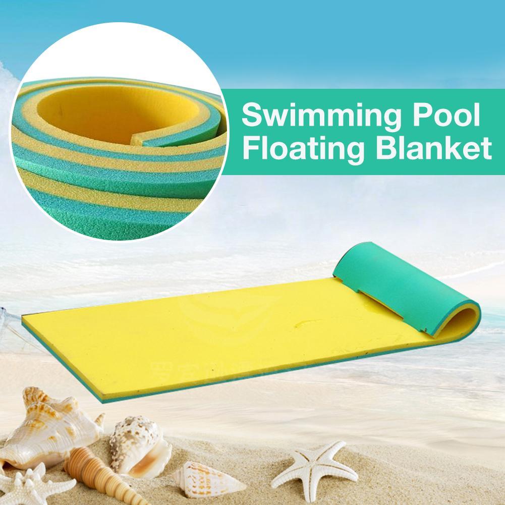170x55CM Pool Float Water Blanket XPE Material Water Hammock Floating Mat For Sunbathing Water Games Sports Picnics