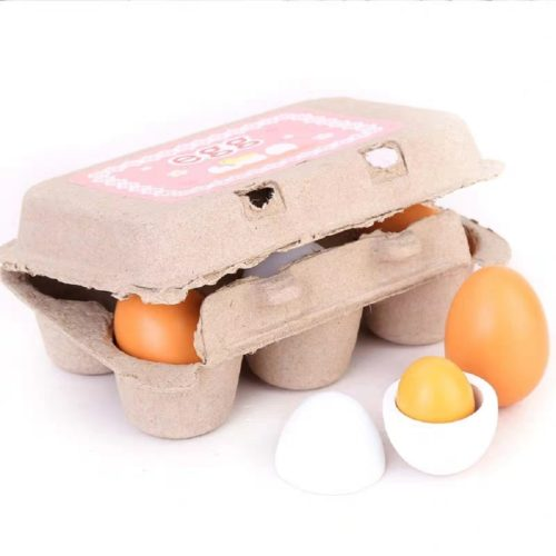 Montessori Wooden Toy Eggs with Box