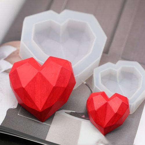 3D Diamond Heart Shaped Mold