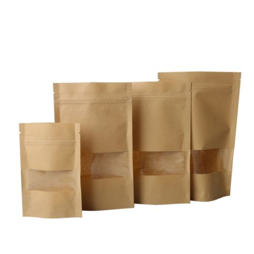 Snack Paper Bags Zip Lock (10 Pcs)