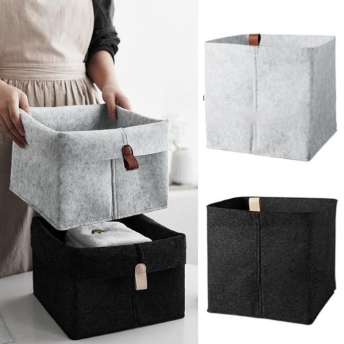 Felt Basket Home Storage Organizer