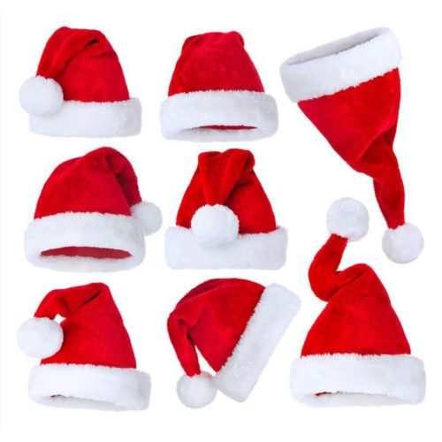 Christmas Santa Hat Plush Costume Cap