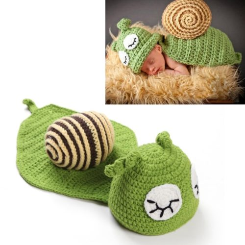 Knitted Unisex Baby Snail Costume