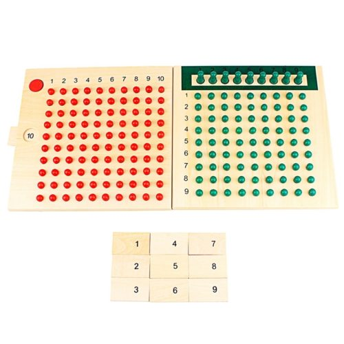 Wooden Montessori Multiplication Board