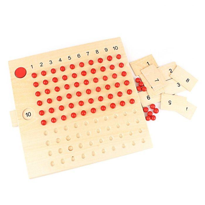 Wooden Montessori Multiplication Board
