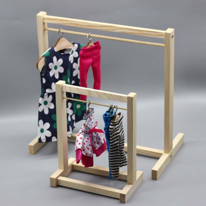 Wooden Doll Clothes Rack