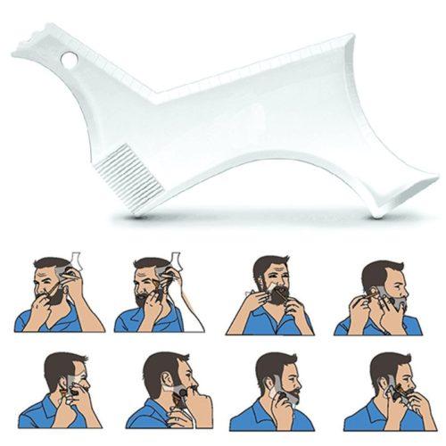 Beard Shaving Guide Grooming Stencil