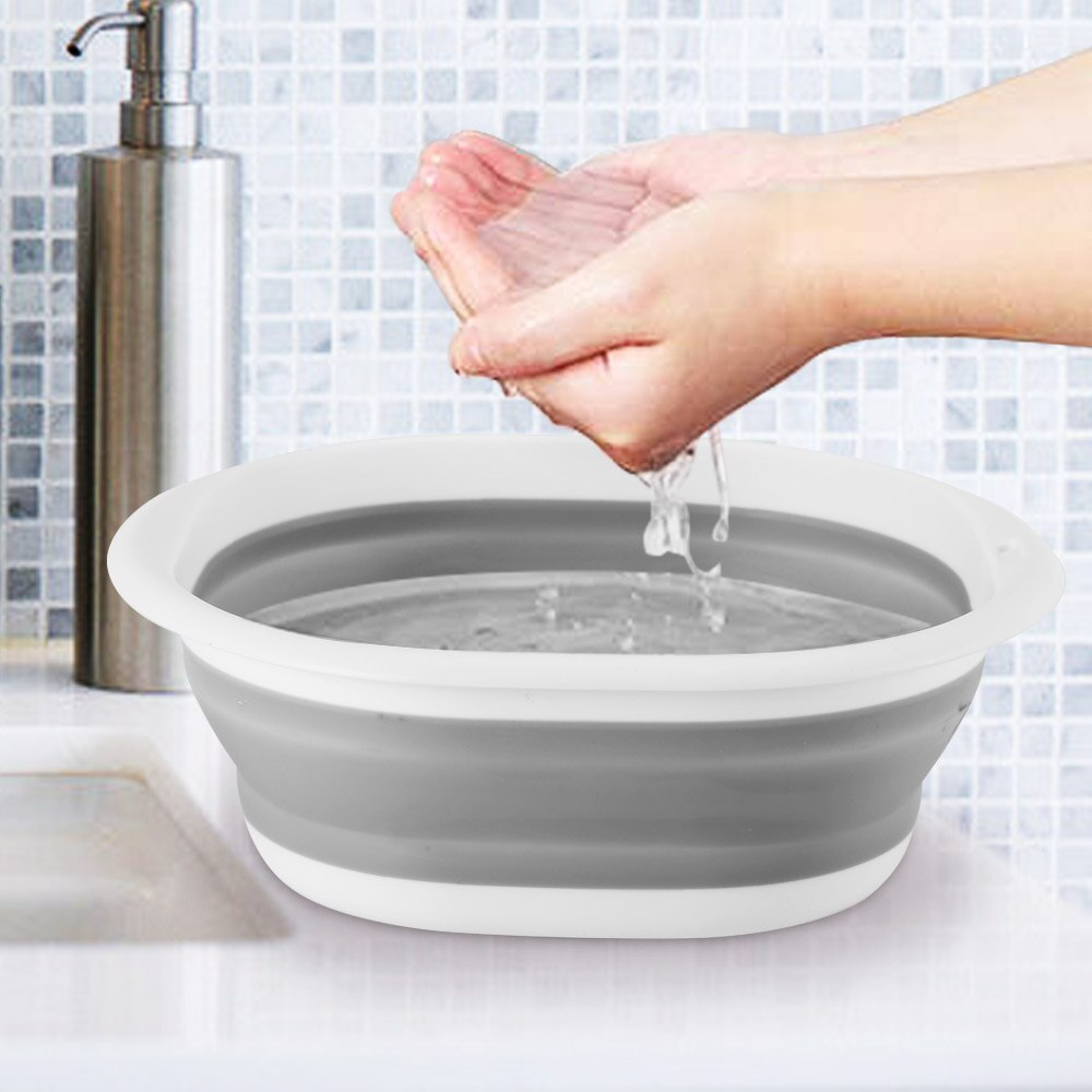 3 Size Multi-purpose Folding Wash Basin Portable Lightweight Hanging Collapsible Dish Travel Hiking Camping Picnic Cleaning Tool