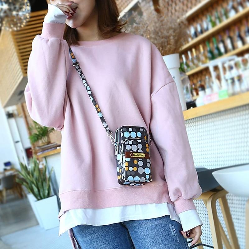 Fashion New Women Mini Crossbody Shoulder Bag Girls Female Multifunction Mobile Phone Pouch Case Belt Handbag Purse Wallet