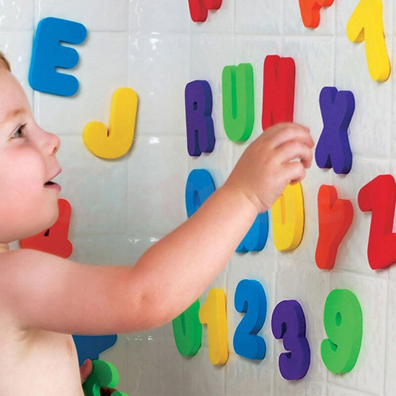 36pcs Baby Infant Newborn Kids Sponge Foam Letters Number Floating Bath Tub Swimming Bath Play Toy Gift