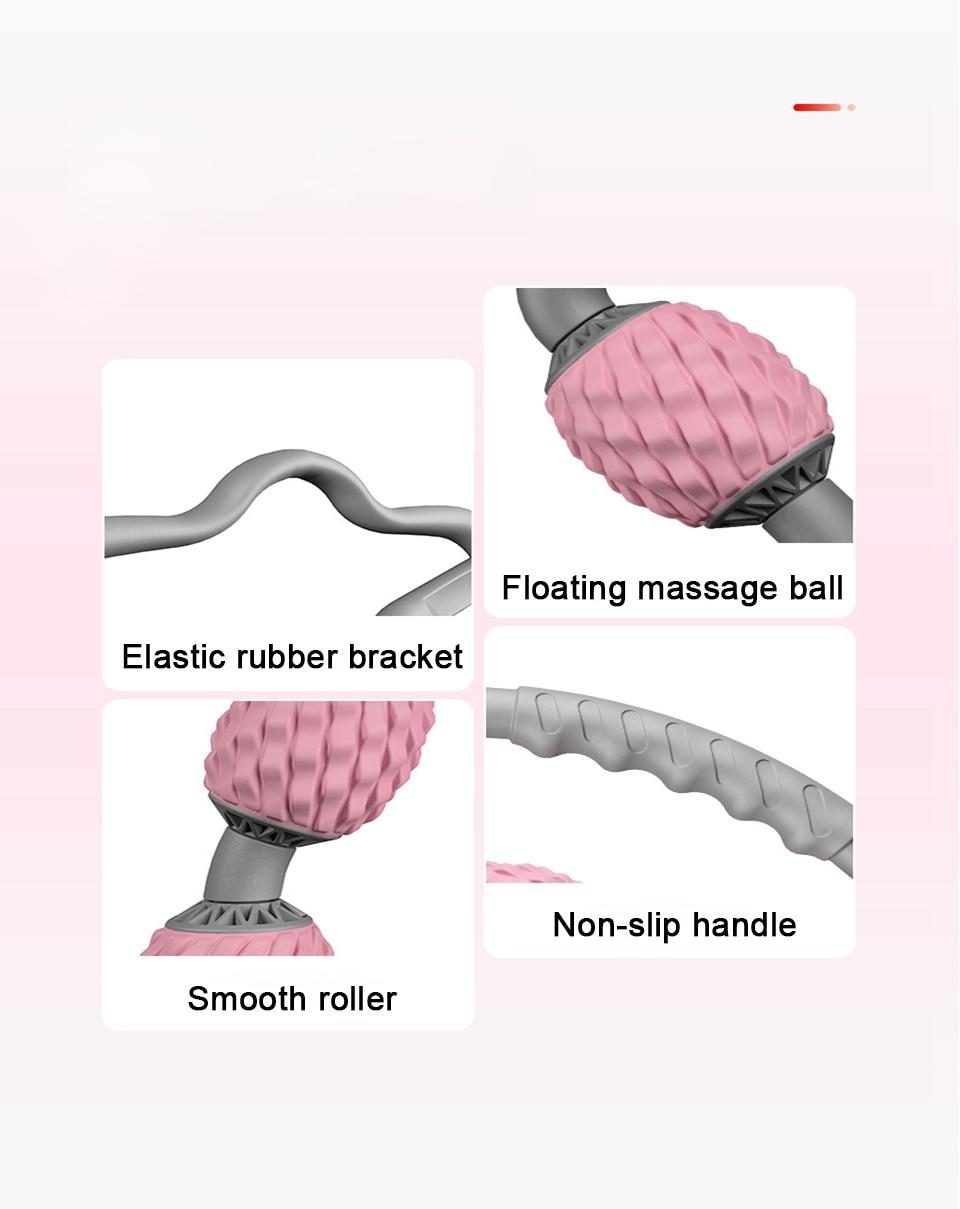Yoga Block Floating Massage Roller for Arm Leg Neck Muscle Tissue for Fitness Gym Yoga Pilates Sports 4 Wheel Foam Roller