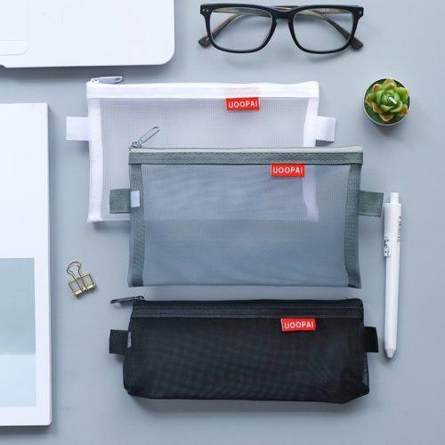 Mesh Pencil Case Storage Pouch