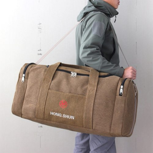 Travel Duffle Bag for Men with Zipper Closure