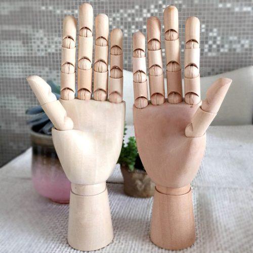 Wooden Hand Mannequin Sketch Model