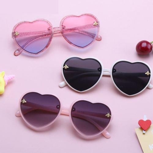 Retro Kids Heart Sunglasses
