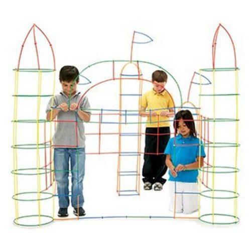 Plastic 4D Building Straws (100pcs)