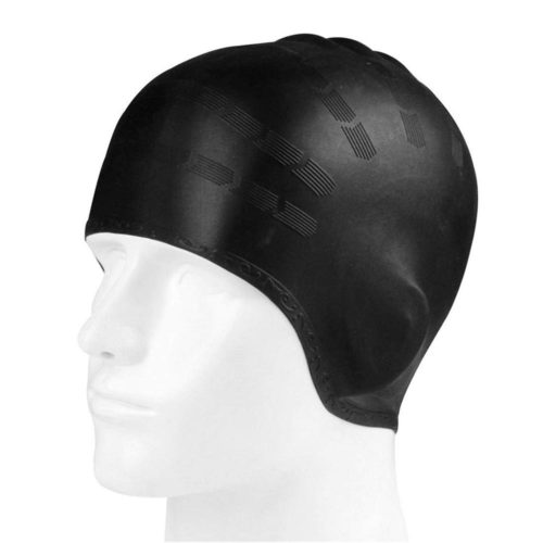 Silicone Swim Cap with Ear Protection