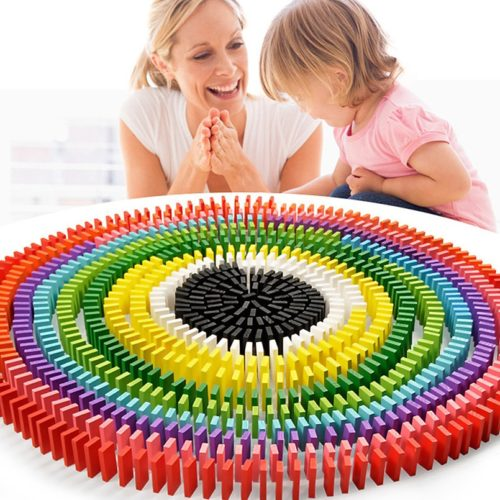 Wooden Rainbow Domino Set (480pcs)