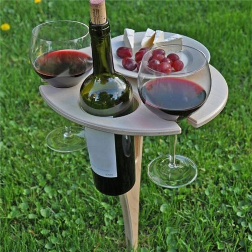 Foldable and Portable Outdoor Wine Table
