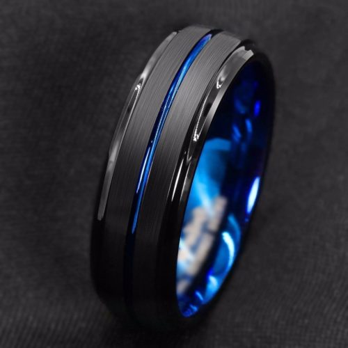 Blue Grove Men's Titanium Ring