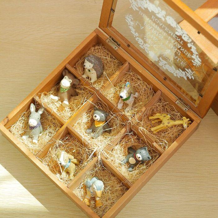 Tea Box Organizer 9-Compartment Storage