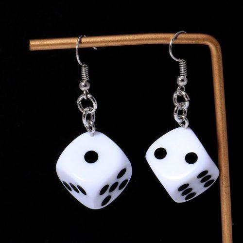 Dice Earrings Ladies Stylish Jewelry
