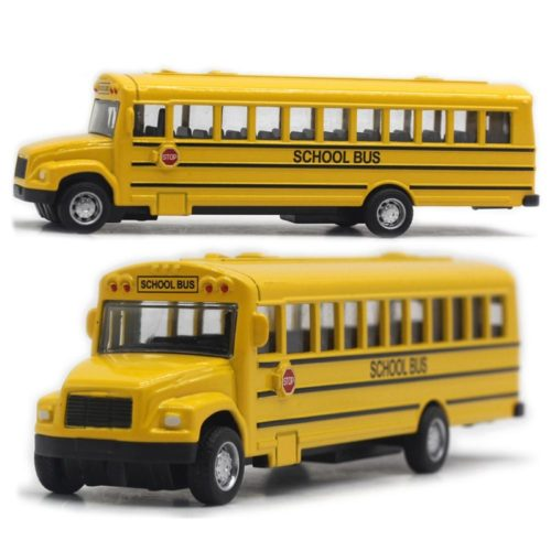 Pull-Back Vehicle Kids School Bus Toy