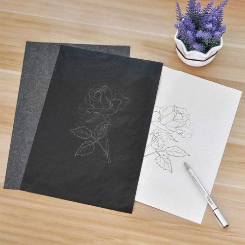 Black Ink Carbon Copy Papers (100 Pcs)